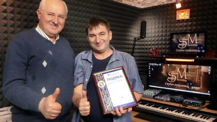 Константин Тетруев и Сергей Сокур в студии звукозаписи STUDIO MASTER