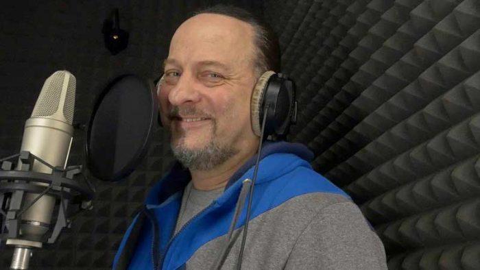 Александр Вилков в студии звукозаписи STUDIO MASTER