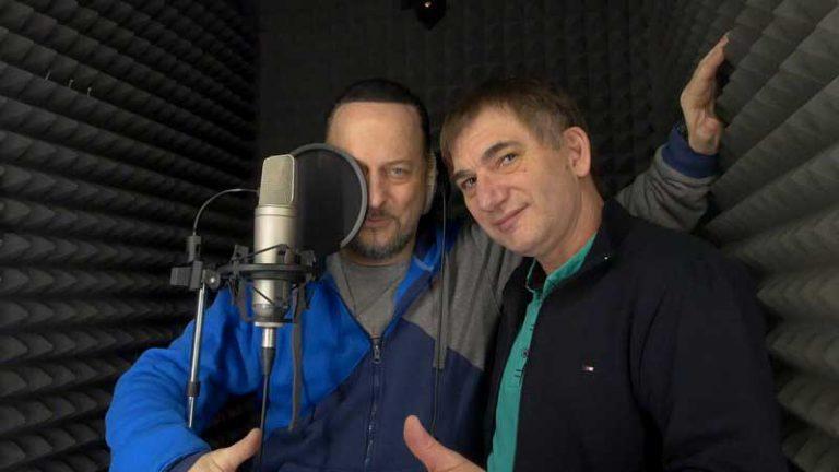 Константин Тетруев и Александр Вилков в студии звукозаписи STUDIO MASTER
